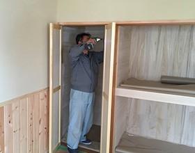 4 建具工の仕事 建具吊り込み(つりこみ)
