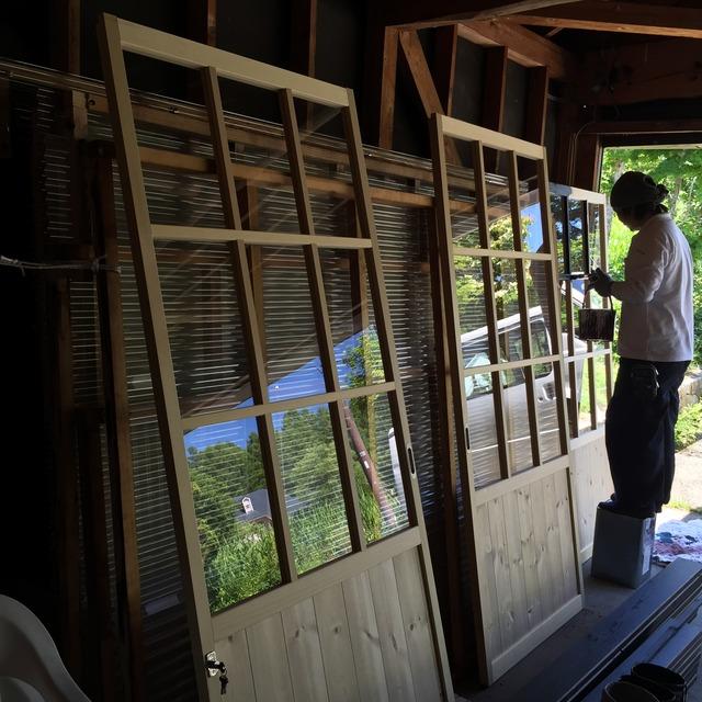 鎌田邸 雪囲い 塗装工事