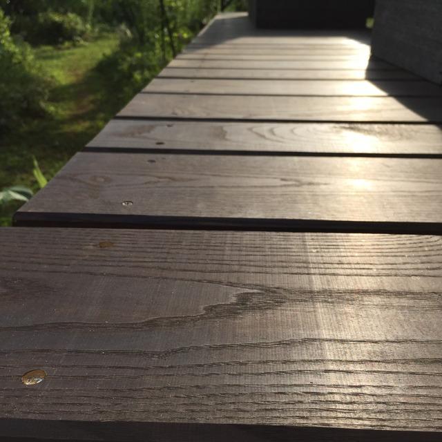 粕谷邸 テラス床板完成 アップ3