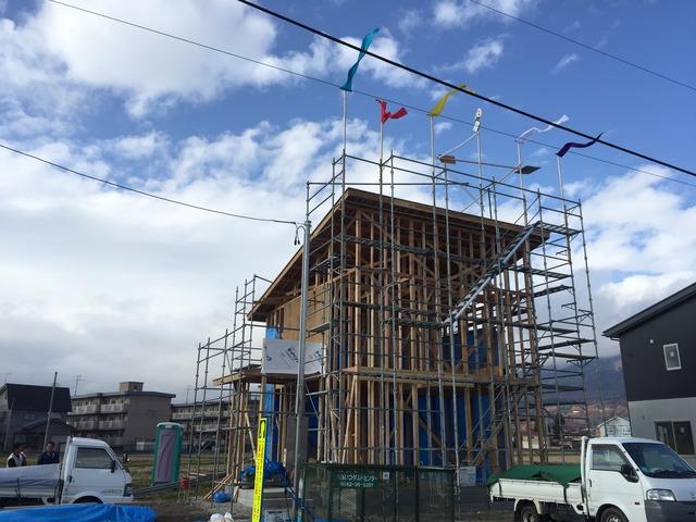 会津・猪苗代 新築工事 建て方 上棟式