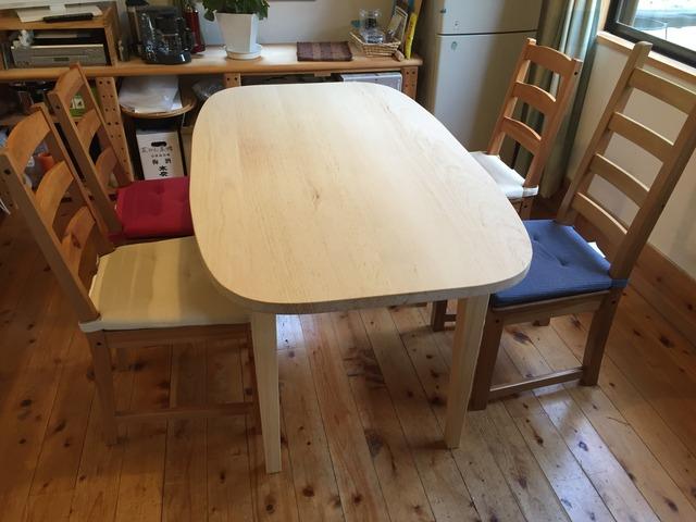 北塩原村 会津 別荘 漆喰 リフォーム リノベーション 家具製作 テーブル 紅松